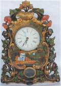 CAST IRON CASED MANTLE CLOCK WITH