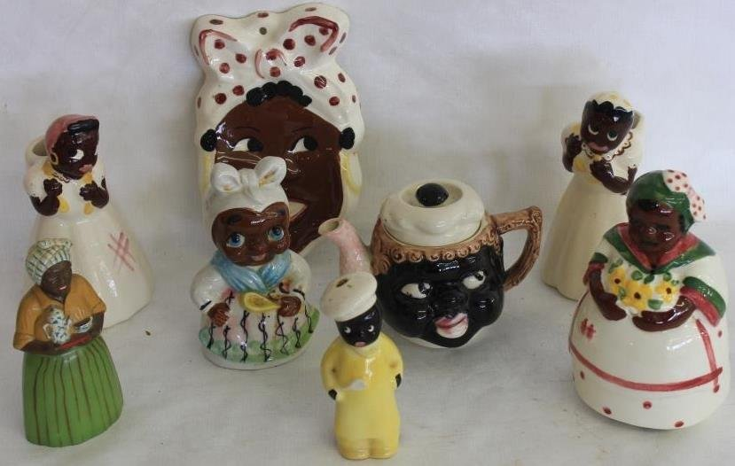 LOT OF 8 MISC. AUNT JEMIMA & OTHER FIGURES TO
