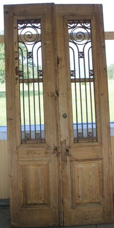 "PR 19TH C. EGYPTIAN DOORS 44"" X 93"""