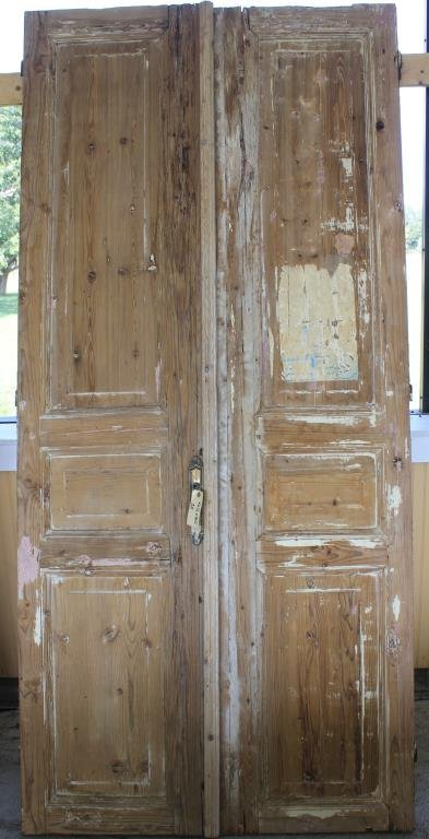 PR 19TH C. EGYPTIAN DOORS W/ RAISED PANELS,