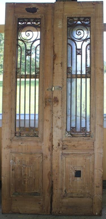 PR 19TH C. EGYPTIAN DOORS W/ IRON INSERTS