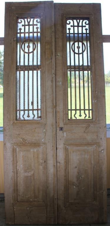 PR 19TH C. EGYPTIAN DOORS W/ RAISED PANELS &