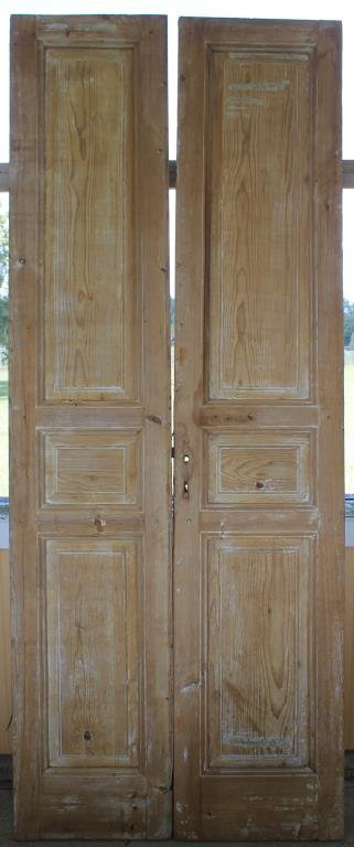 PR 19TH C. EGYPTIAN DOORS W/ RAISED PANELS