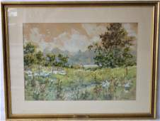 WILLIAM A MCCORD WATER COLOR ON PAPER LANDSCAPE