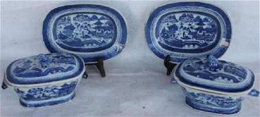 TWO 19TH C. CANTON SMALL SIZE TUREENS & UNDER