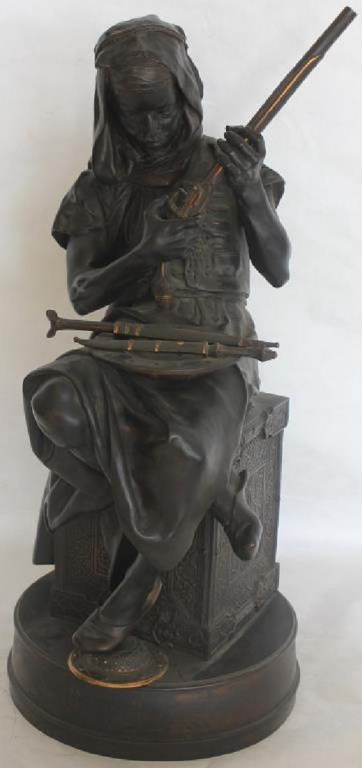 EXCEPTIONAL 19TH C. BRONZE FIGURE OF ARAB MAN W/