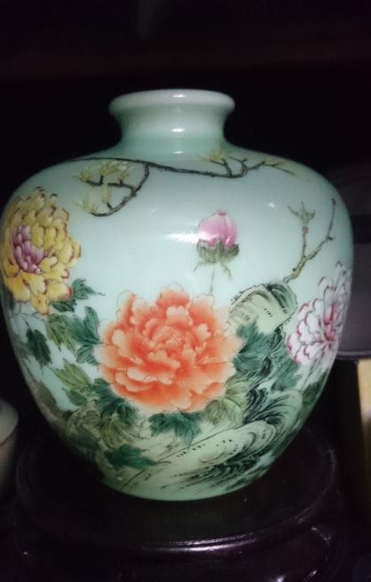A Beautiful Famille Rose Vase With Mark