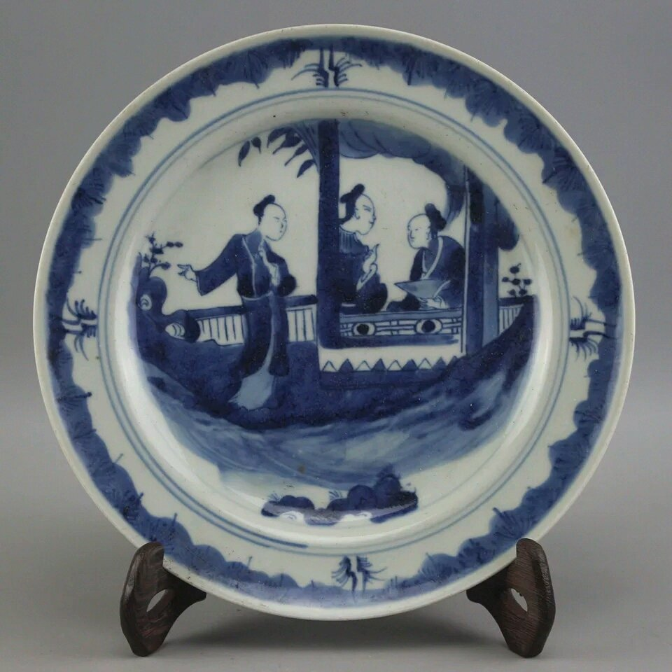 A Ching Blue and White Plate