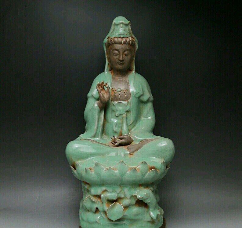A Green Glaze Figure