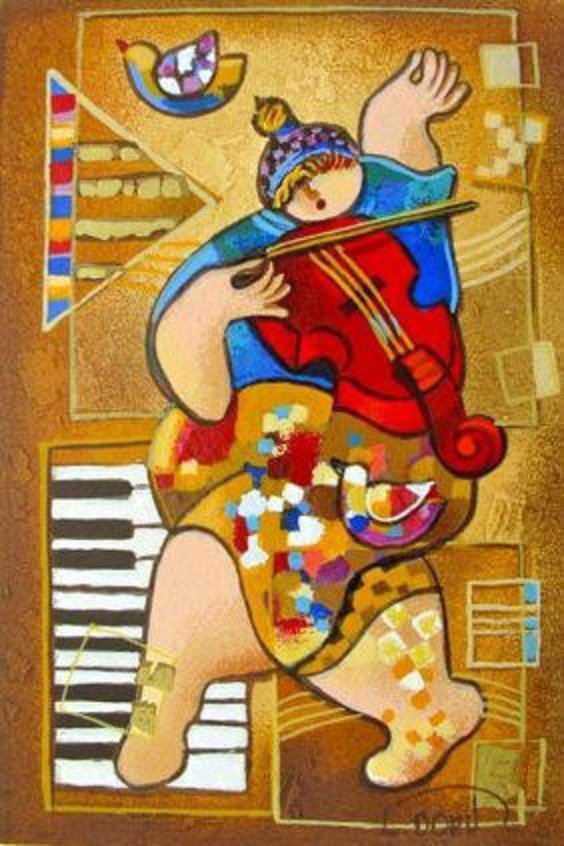 "Levi, Dorit (Israel b. 1952) ""Golden Strings"" COA"