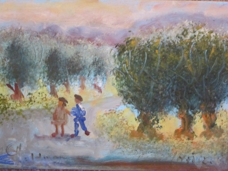 Goldman, Albert   Ebypt-Israel-b.1924-)Children Stroll""