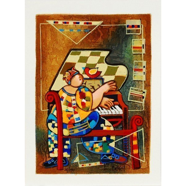 "Levi, Dorit (Israel b. 1952) ""The Grand Piano"" COA"
