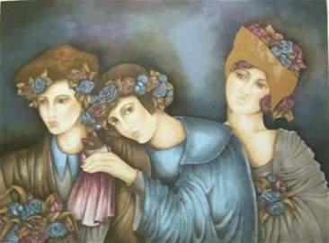 "Ran,Chaya Graetz (Israel b.1948) . ""Three Sisters"""