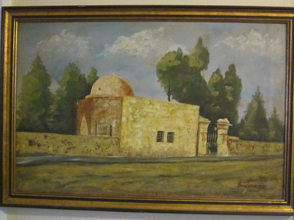 "Friddman ""Kever Rachel"" oil on canvas"