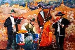 """Shaul Kosman """"Musicians in Jerusalem"""" .(Israel)"""