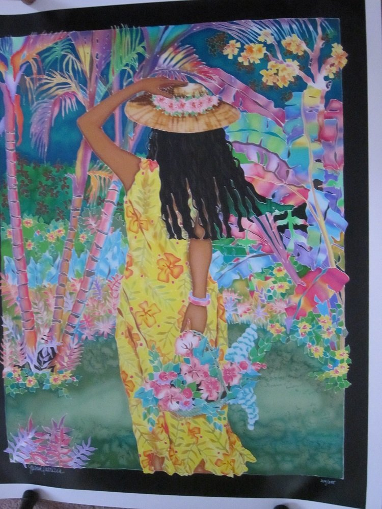 "Susan Patricia""Gathering Flowers""Hawaii Ltd Ed"
