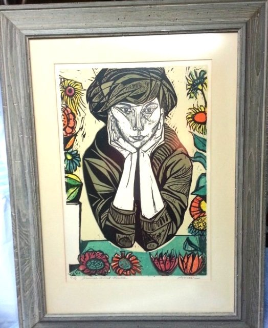 "IRVING AMEN "" DREAMER AMID FLOWERS"" JEWISH"