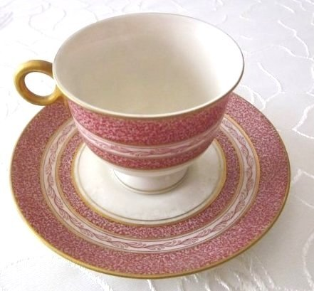"Lot of 7-2PcSets Haviland""Red Mosaic""demitasse"