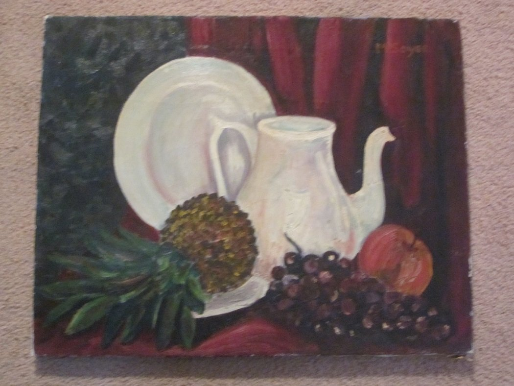"""M. Soyer?""""Untitled""""Still Life oil on stretched canvas"""
