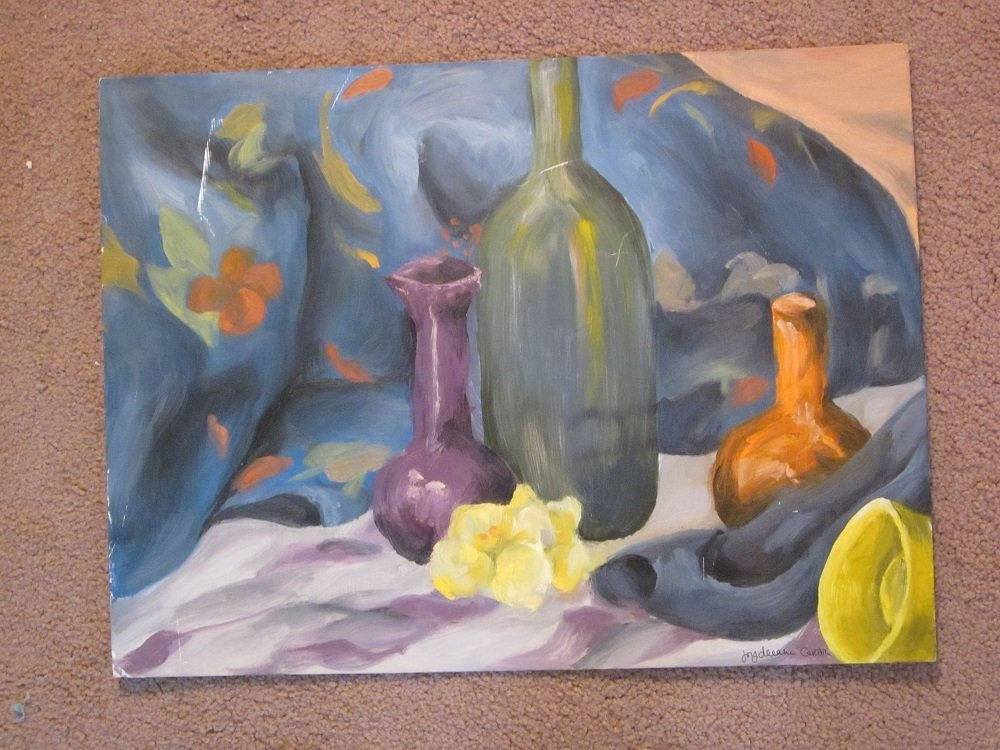 """Carson. Joydeann"""" Lot of 2 sill life paintings"""
