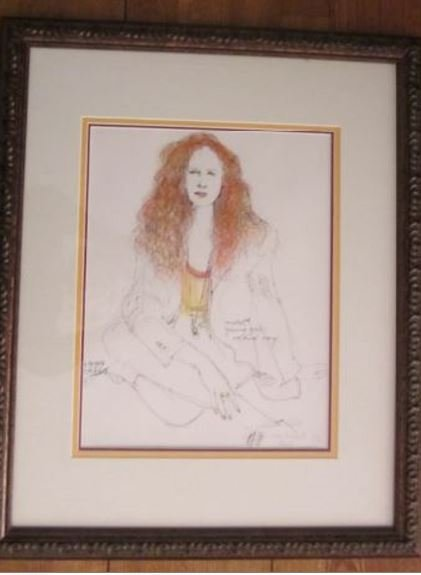 """Roland Roy """"Young Girl 7""""Orig  mixed media, hand signed"""