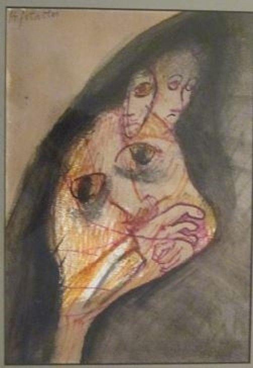 Osias Hofstatter.Orig untitled Sig/MM jJewish Israel
