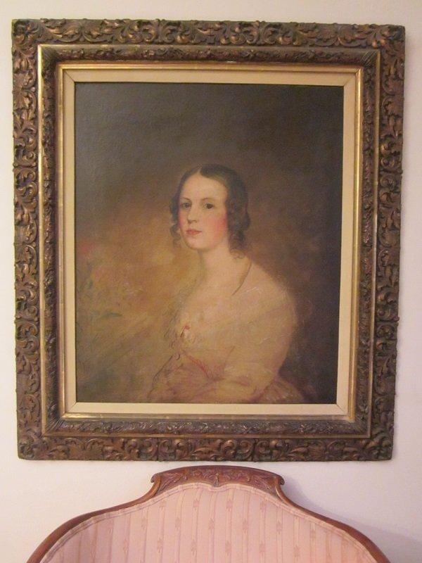 "Vintage Oil On Canvas""Portait of a Lady"""