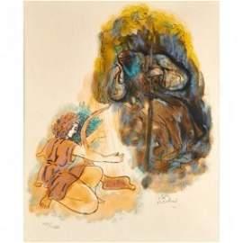 REUVEN RUBIN (Israeli, 1893-1974) Lithograph in colors