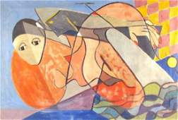 Ollendorf, Jane (American) Untitled Abstract on stretch