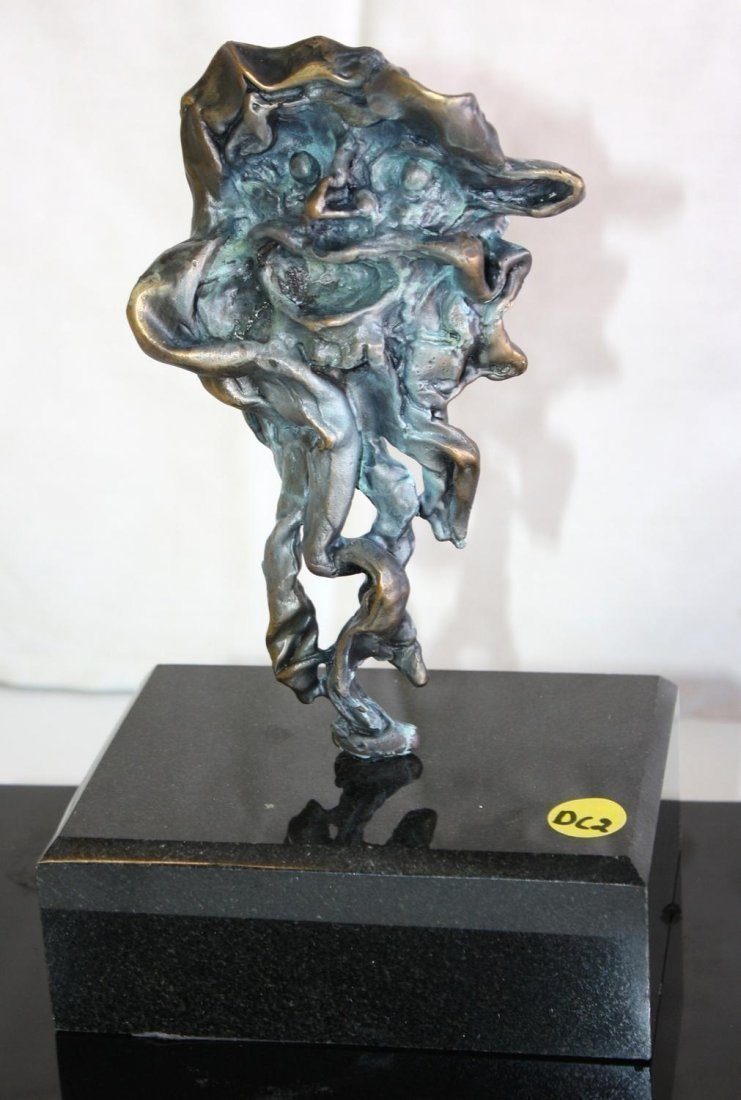 Dali Signed & Numbered Bronze Sculpture - Faun, Man