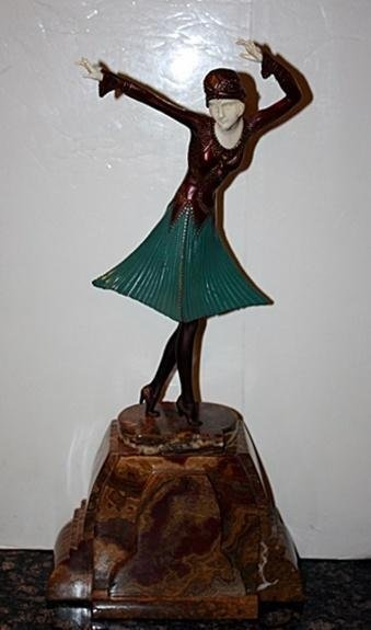 Exquisite Signed D Chiparus Bronze - Miro