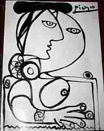 Picasso Attributed : Signed Original Pen & Ink on Paper