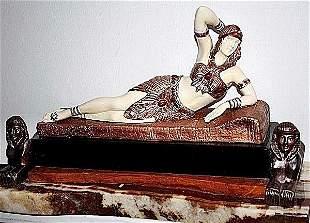 Cleopatra-Bronze & Ox Bone Sculpture by Chiparus