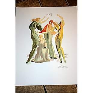 Beautiful Signed & Numbered Dali Lithograph - La Danse