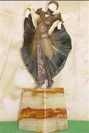 Butterfly Dancer - Bronze Ox Bone Onyx by Chiparus