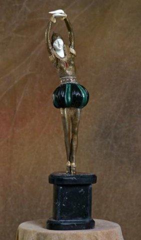 Exquisite Pirouette- Bronze & Ivory Sculpture Chiparus