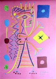 Pablo Picasso Original Lithograph Jacqueline In Pink AP