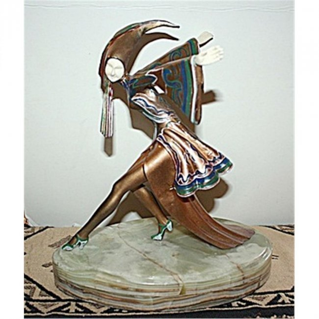 Gerdago Signed Bronze & Ox Bone - Corrina (Rare)