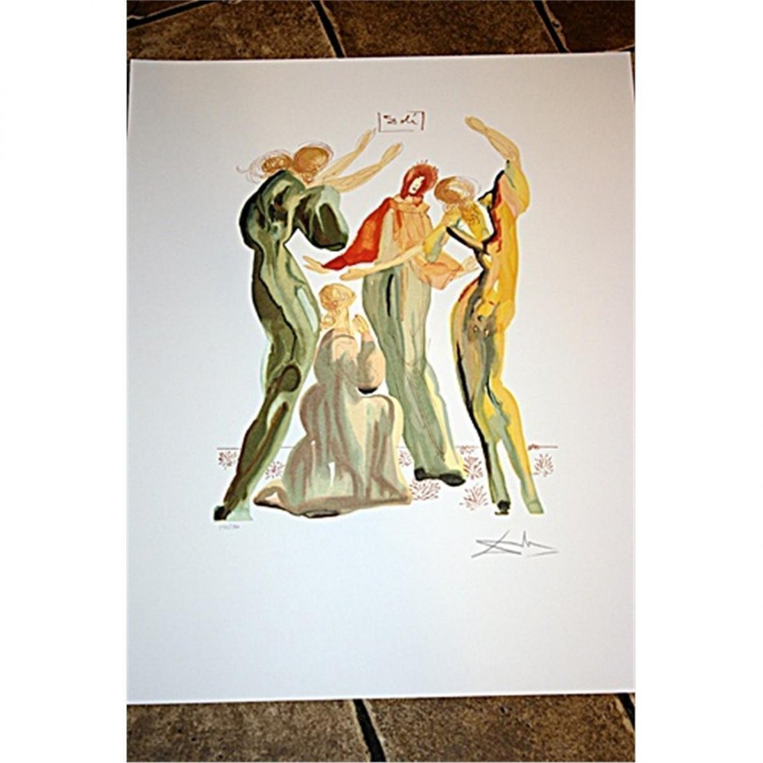 Beautiful Signed & Numbered Dali Lithograph - La Danse