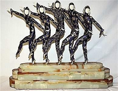Exquisite Chiparus - Bronze Ox Bone ' 5 Chorus Line'