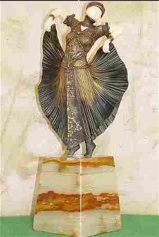 Butterfly Dancer - Bronze On Onyx by Chiparus