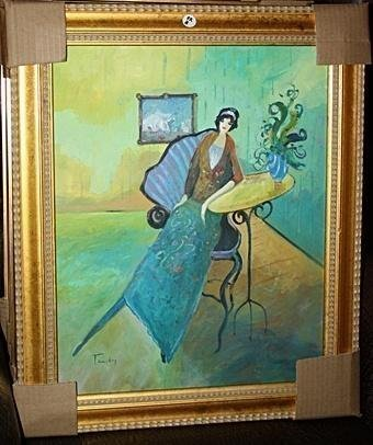Exquisite Original I Tarkay Oil OC ( Tea For One ) COA