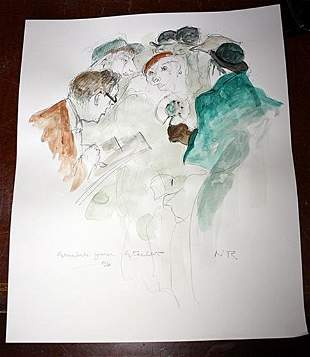 One of Kind Norman Rockwell Original Pencil Watercolor