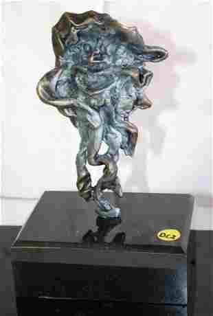Dali Signed Numbered Bronze Sculpture Faun Man