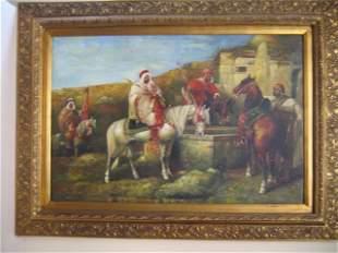 Amazing Original Oil Canvas Signed Spore Orientaliste