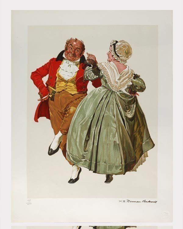 Norman Rockwell Gold-Ed Lithograph - Dancing Partners