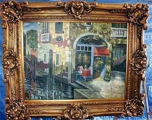 Fantastic Original EUROPEAN Oil On Canvas By Vecchir