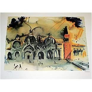 Exquisite Salvadore Dali Lithograph Venice Signed