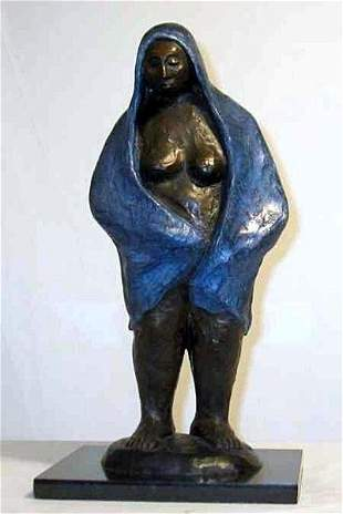 Zuniga Attributed Limited Edition Bronze Stand Up Lady