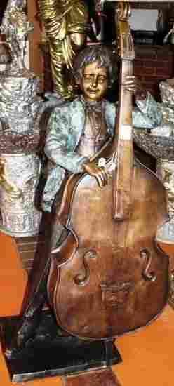 Moreau Attrib Life Size Exceptional Bronze Boy Jazz Lo